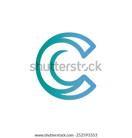 letter c logo icon vector design stock vector 252593353 shutterstock. Black Bedroom Furniture Sets. Home Design Ideas