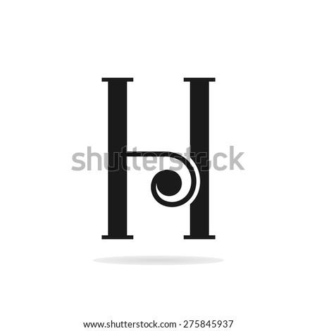 Letter h logo template letter h stock vector 286768937 shutterstock letter h logo template pronofoot35fo Gallery