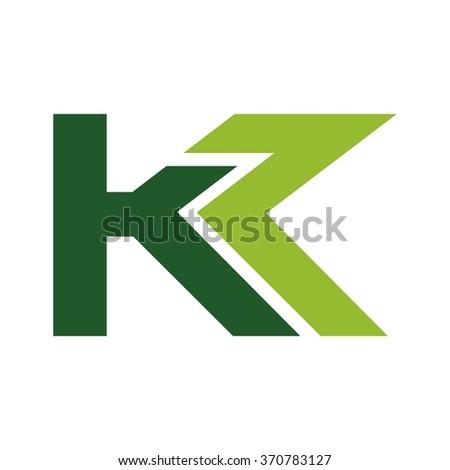 Letter K Z Logo Vector Stock Vector 370783079 Shutterstock
