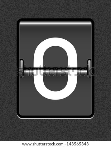 Letter O on a mechanical timetable