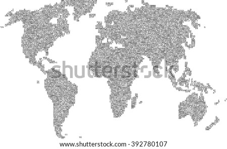 Dotted world map stock vector 182827589 shutterstock letter political world map illustration gumiabroncs Images