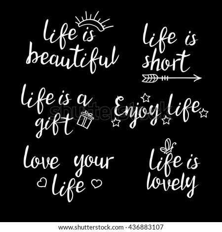 Lettering life quotes calligraphy inspirational quote lettering life quotes calligraphy inspirational quote about life for postcard poster graphic design negle Choice Image