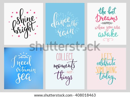 Lettering Quotes Motivation Life Happiness Calligraphy
