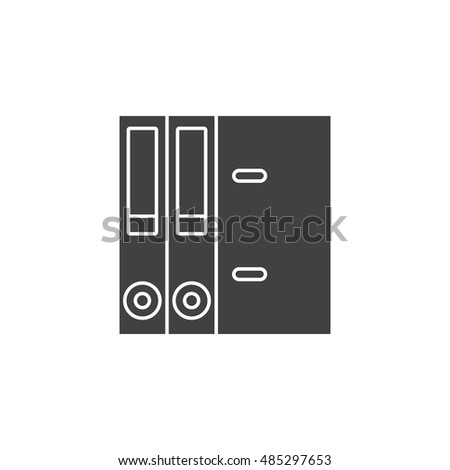 Lever Arch Binders icon vector, paper folder solid logo illustration, pictogram isolated on white
