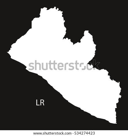 Liberia Map Grey Stock Vector Shutterstock - Liberia map