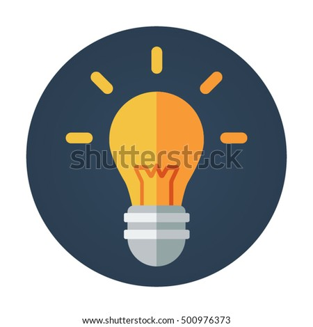 vector square blue icon lighting bulb. light bulb flat vector icon that shows concept such as edit modern furniture illuminate energy square blue lighting