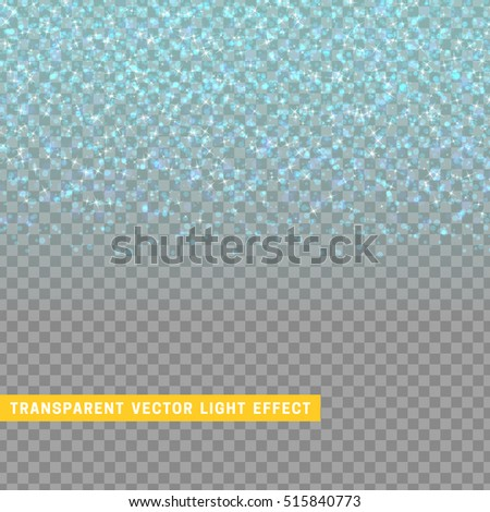 light effect blue texture glowing rain of confetti. Glitter particles shining stars. Christmas background Bright design element. Xmas decoration luxury greeting card.