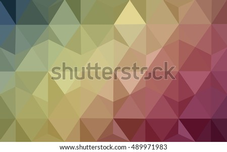Light green, red polygonal illustration, which consist of triangles. Triangular design for your business. Geometric background in Origami style with gradient.