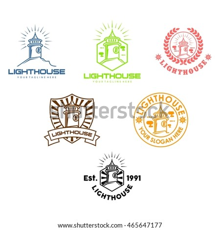 Basketball logo templates set basketball logotype stock vector lighthouse logo design template pronofoot35fo Images