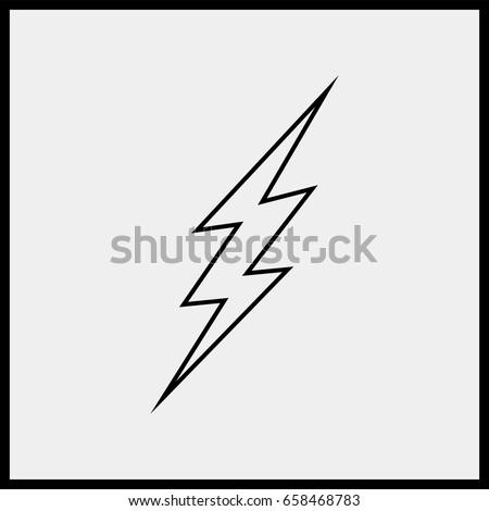 lightning line icon.  sc 1 st  Shutterstock & Simple Hand Drawn Doodle Lightning Bolt Stock Vector 370430672 ... azcodes.com