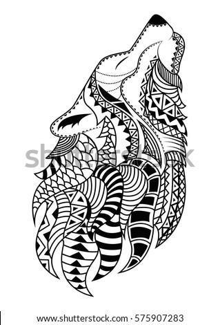 Hand Drawn Koi Fish Circlegold Japanese Stock Vector