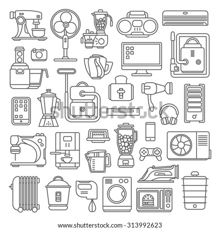 Home electronics glossy app dashboard icon stock vector for Art cuisine evolution 10 piece cooking set