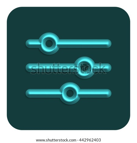 Line Neon Web Icon, Vector Illustration Design Symbol