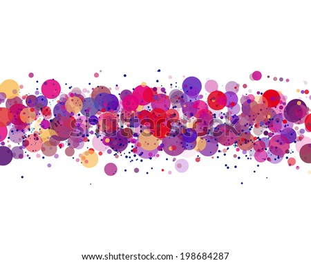 line of colors circles with different transparency. vector blank