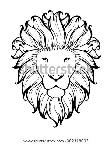 Лев в профиль