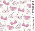 Lingerie seamless pattern - stock vector