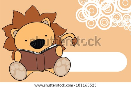 lion baby reading cartoon background in vector format very easy to edit