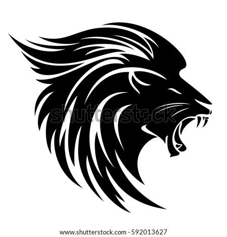 eagle head logo design black and white