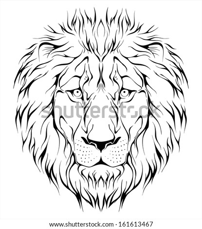 The gallery for --> Simple Lion Head Outline