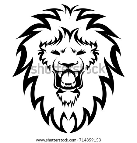 tiger head silhouette vector stock vector 106367366
