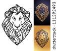 Lion's head - stock vector