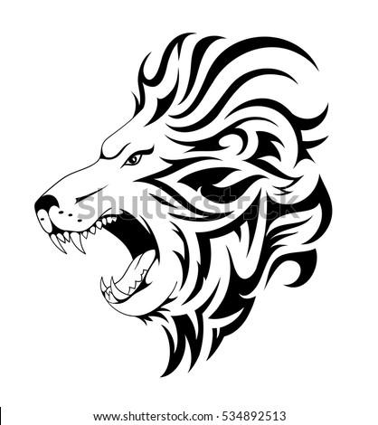 Tiger Face Logo Emblem Template Mascot Stock Vector