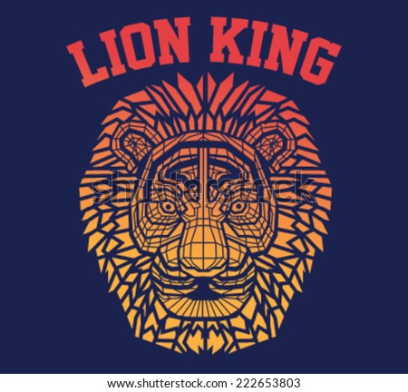 lion vector design in t-shirt