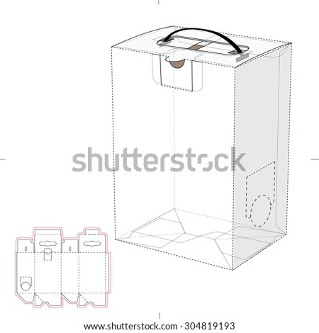 Liquid container with handle, dowel and Blueprint Template