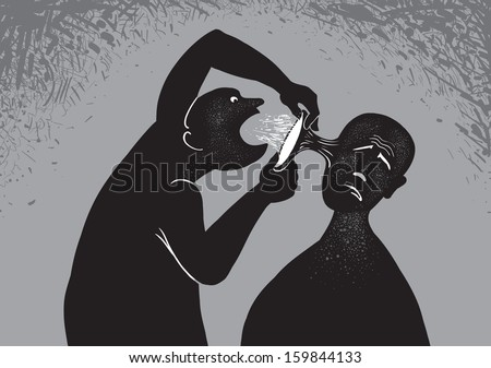 Listen carefully - stock vector