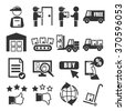 logistic icon set - stock vector