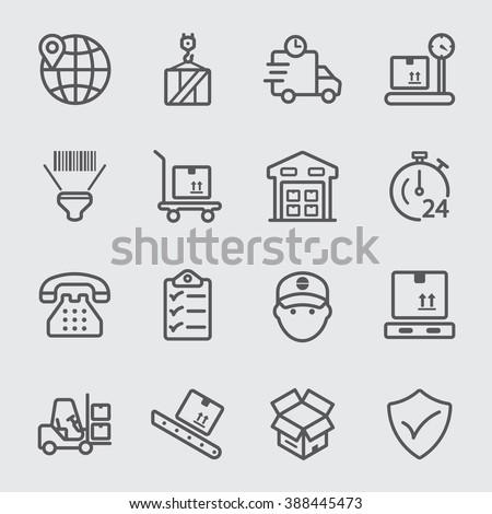 Logistics Icons 150082928