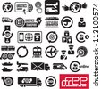 Logistics icons. Logistic company signs. - stock vector