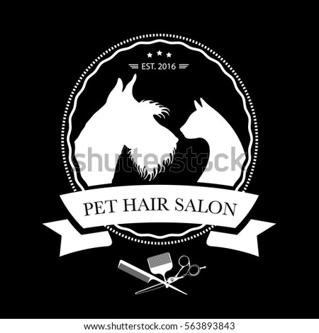 Set hair comb icons vector illustration stock vector for Black cat salon