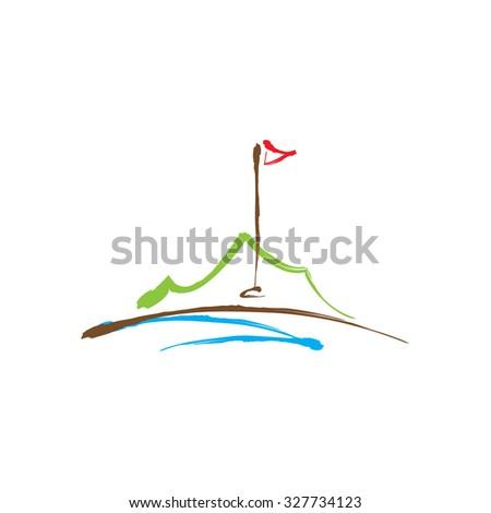 Golf Logo Template Stock Vector 536959711 - Shutterstock