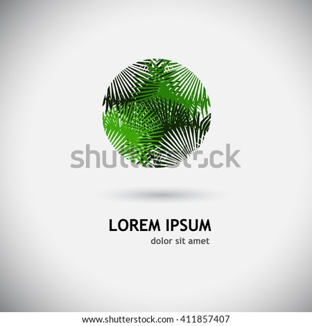 logo palm leaves. Vector