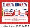 London card design. vector illustration - stock vector