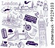 London doodles - stock