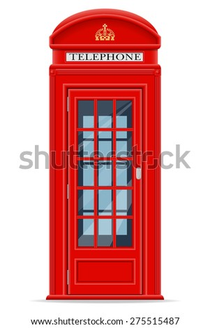 london phone booth isolated on white stock vector 250666231 london red phone booth vector illustration isolated on white background