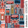 london seamless pattern design. vector illustration - stock vector
