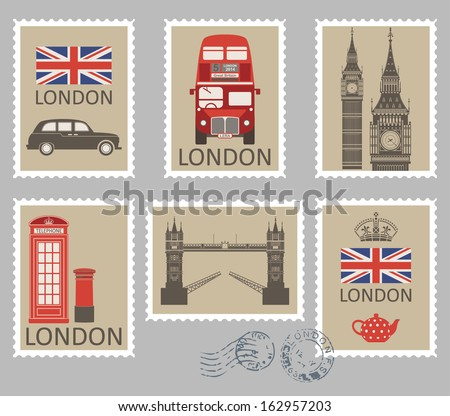 London stamps collection