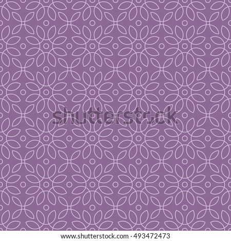 loops pattern / Seamless vector pattern of abstract floral elements on lilac background.