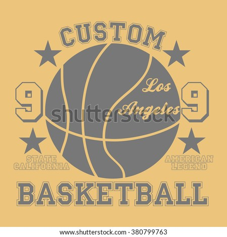 Los Angeles city Typography Graphic. Fashion stylish printing design for t shirt and sports wear, vector