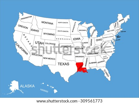 Usa Map Stock Vector Shutterstock - Map pf usa