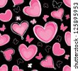 Love hearts Valentin's Day Seamless Pattern. Bright Vector seamless background. - stock photo
