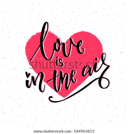 Love You Dad Lettering Heart On Stock Vector 436046209