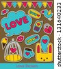 love stickers collection. vector illustration - stock vector