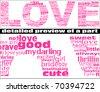 LOVE texture - stock photo