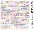 LOVE. Word collage on white background. Illustration with different association terms. - stock photo