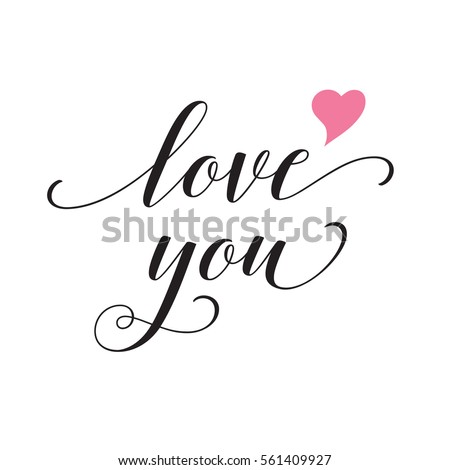 I Love You In Calligraphy