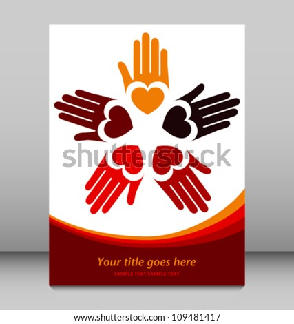 Loving hands design vector.